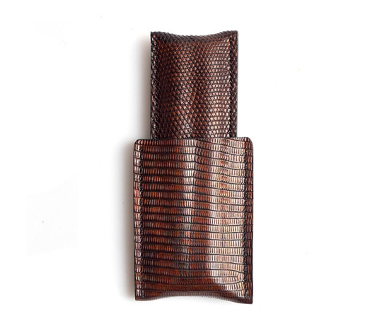 Picture of 1/1 Cigar Case - Burnished Lizzard