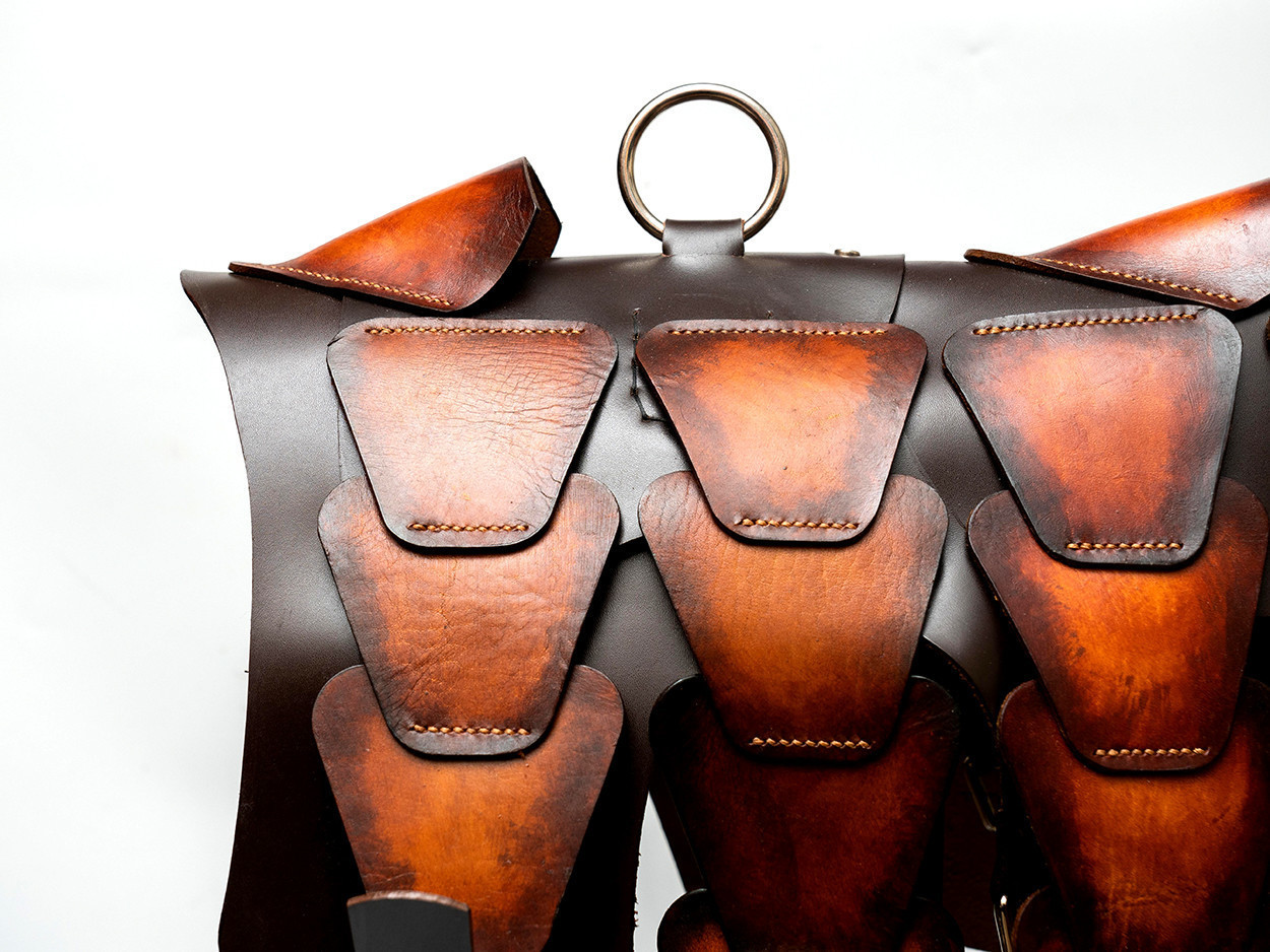 Picture of Brown Patina Leather Dog Armor 1/1