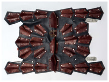 Picture of Leather Dog Armor Brown/Blue Calf